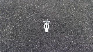 VW Clip Zierleiste Kofferraumverkleidung Silbergrau